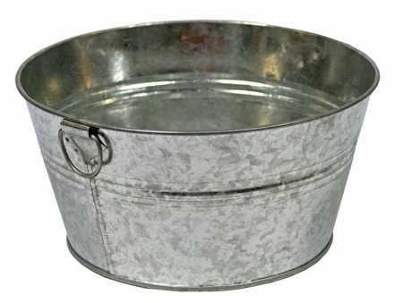 Small Galvanized Washtub Baskets Buckets Boxes Home Decor Metal Wash Tub Tin Tub Galvanized Tub