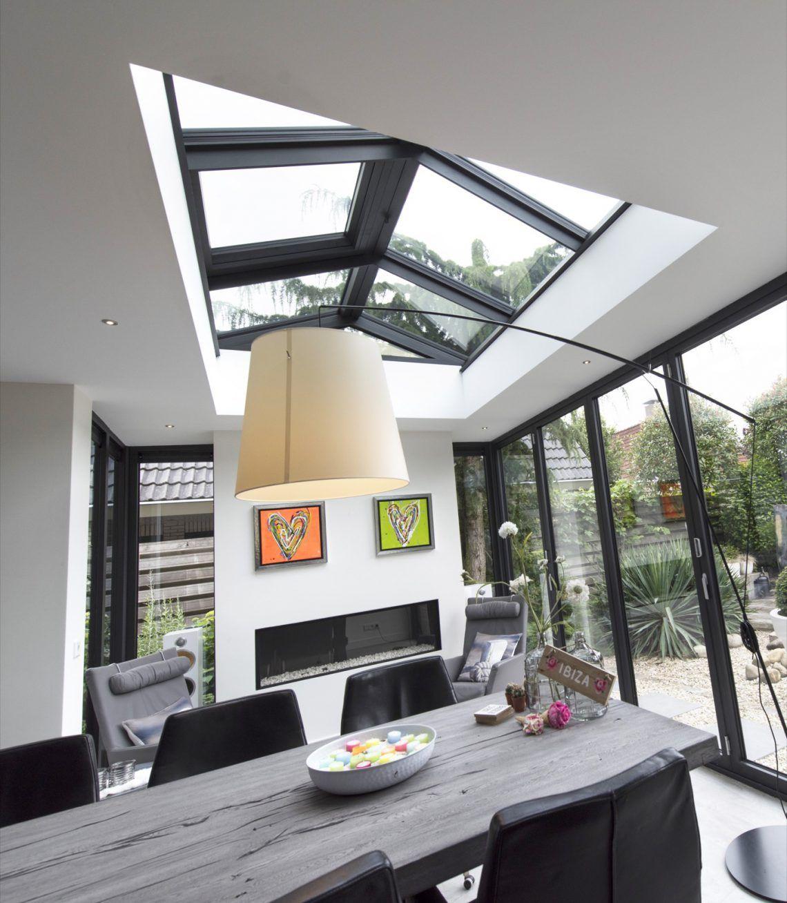 busscher serrebouw moderne serre aanbouw met lichtstraat en glazen vouwwand hoog exclusieve. Black Bedroom Furniture Sets. Home Design Ideas