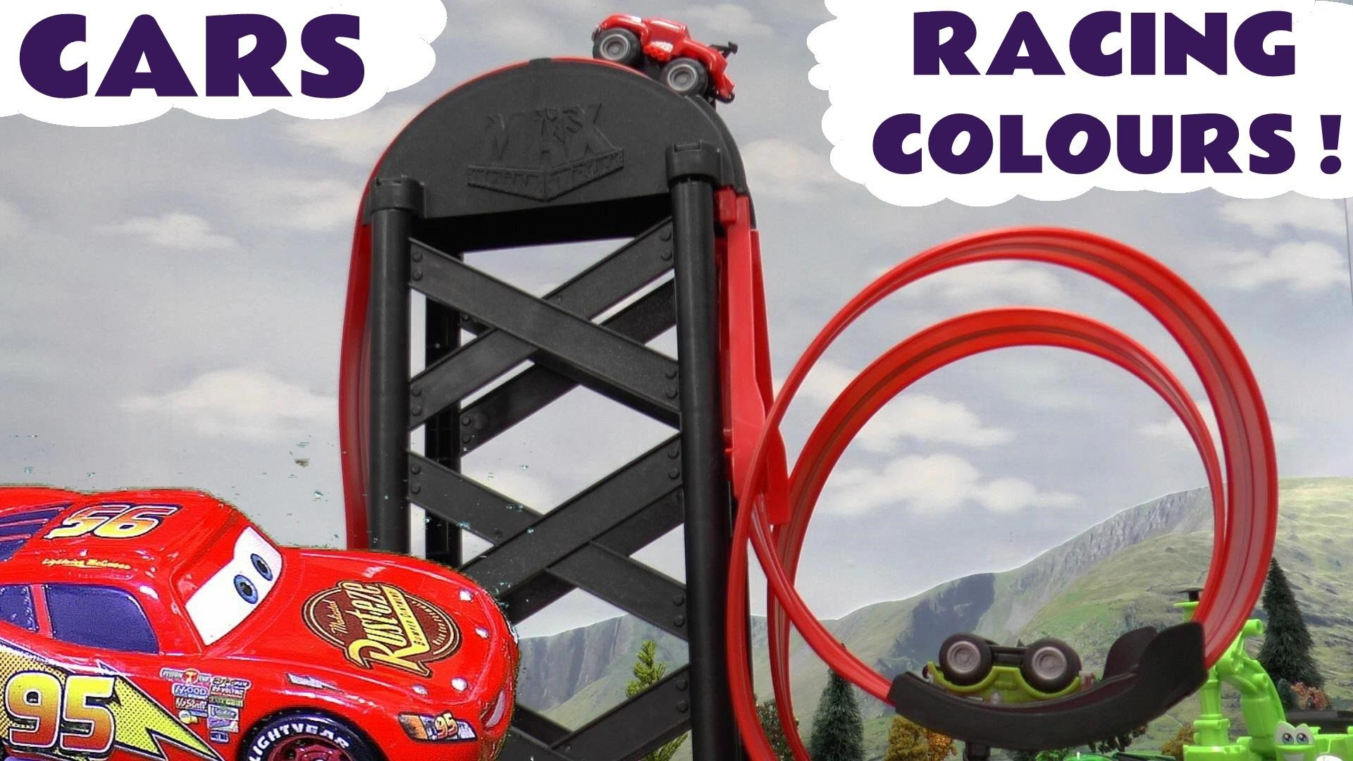 Cars Toys Racing Colours With Thomas And Friends Learn Colors