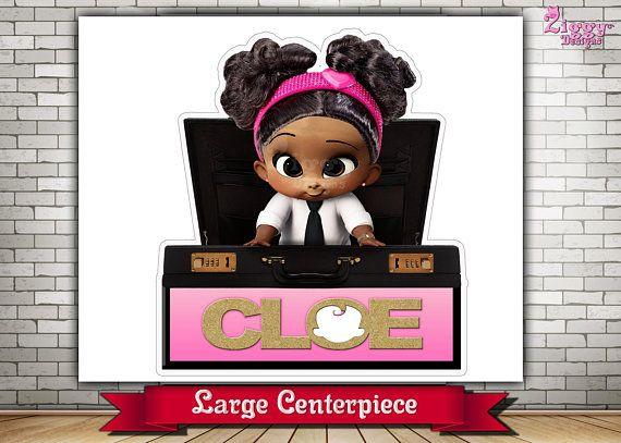 The Boss Baby Girl African American Large Centerpiece