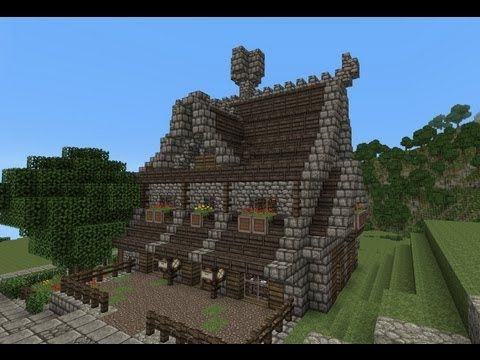 Minecraft Gundahar Tutorials Medieval Nordic House 2 Youtube Minecraft Medieval Minecraft Medieval House Minecraft Blueprints