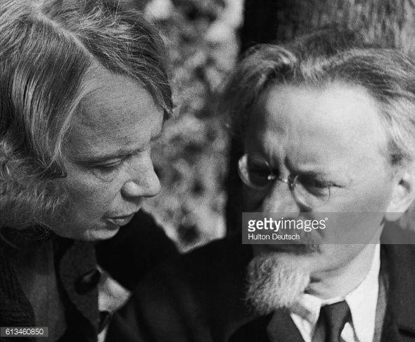Bolshevik Revolutionary Leon Trotsky And His Wife Nathalia Sedova