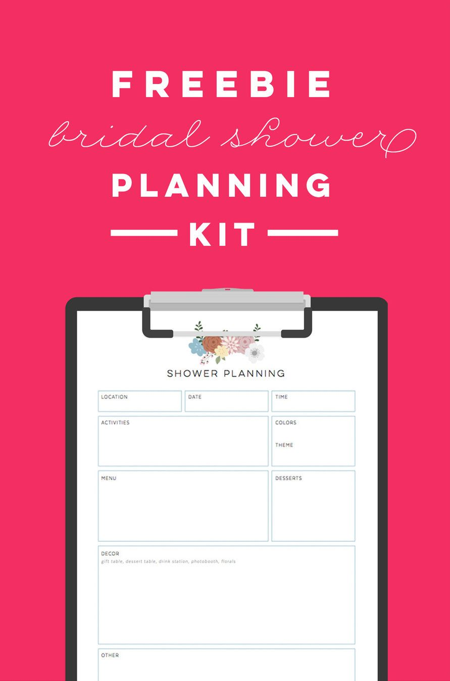 free printable bridal shower planning kit