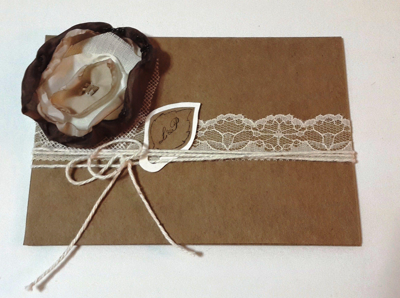 Tarjeta de invitación a una boda. Diseñada y realizada por Helvia