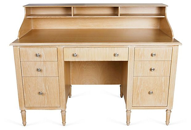 Gabrielle Desk  Idea: make the top shelf piece for desks already own