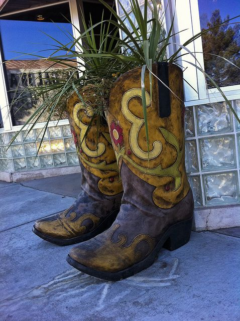 Cowboy Boot Planters Found 2