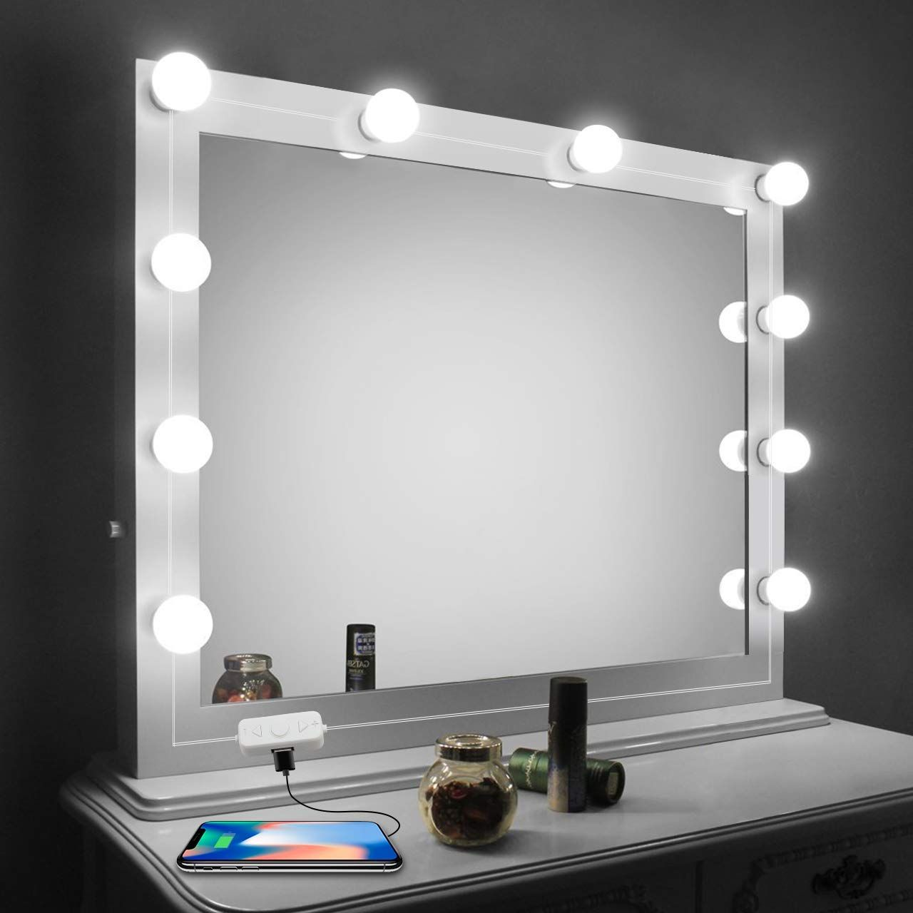 Vanity Mirror Lights Kit Led Lights For Mirror With Dimmer And