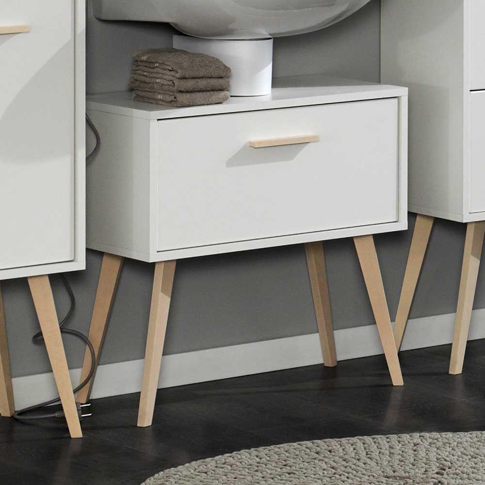 Waschbeckenunterschrank In Weiss Buche Retro Design Jetzt Bestellen
