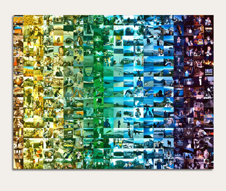 Spectrum Colour Collage Montage On Canvas Color Collage Photo