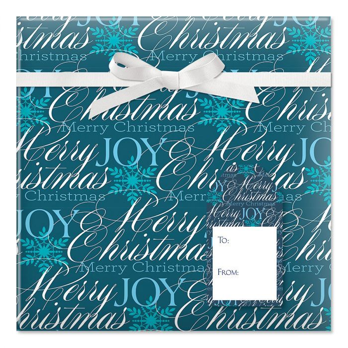 Formal Script Jumbo Rolled Christmas Wrapping Paper 1 Giant Roll