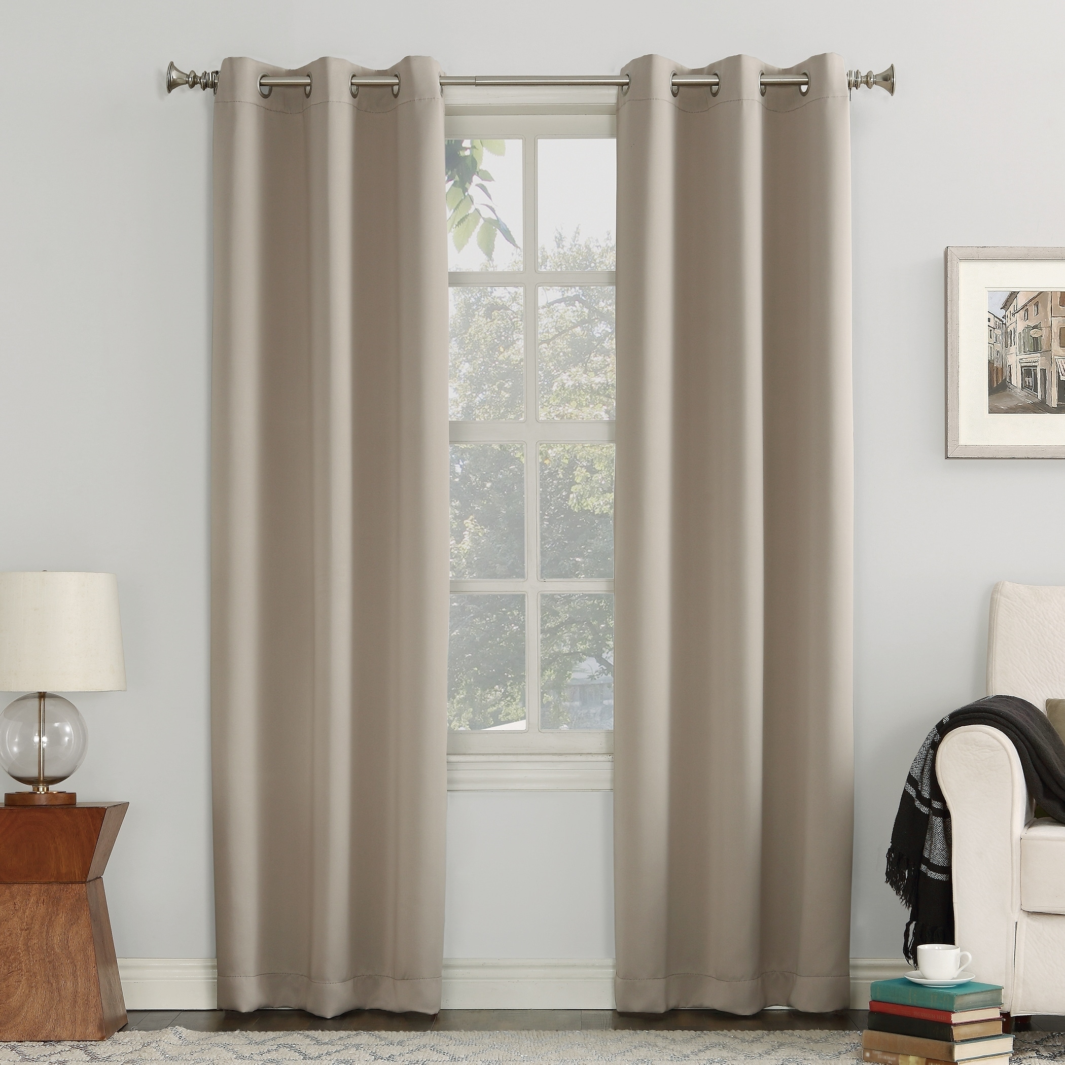 "Sun Zero Blackout Single Curtain Panel (40"" W X 95"" L"