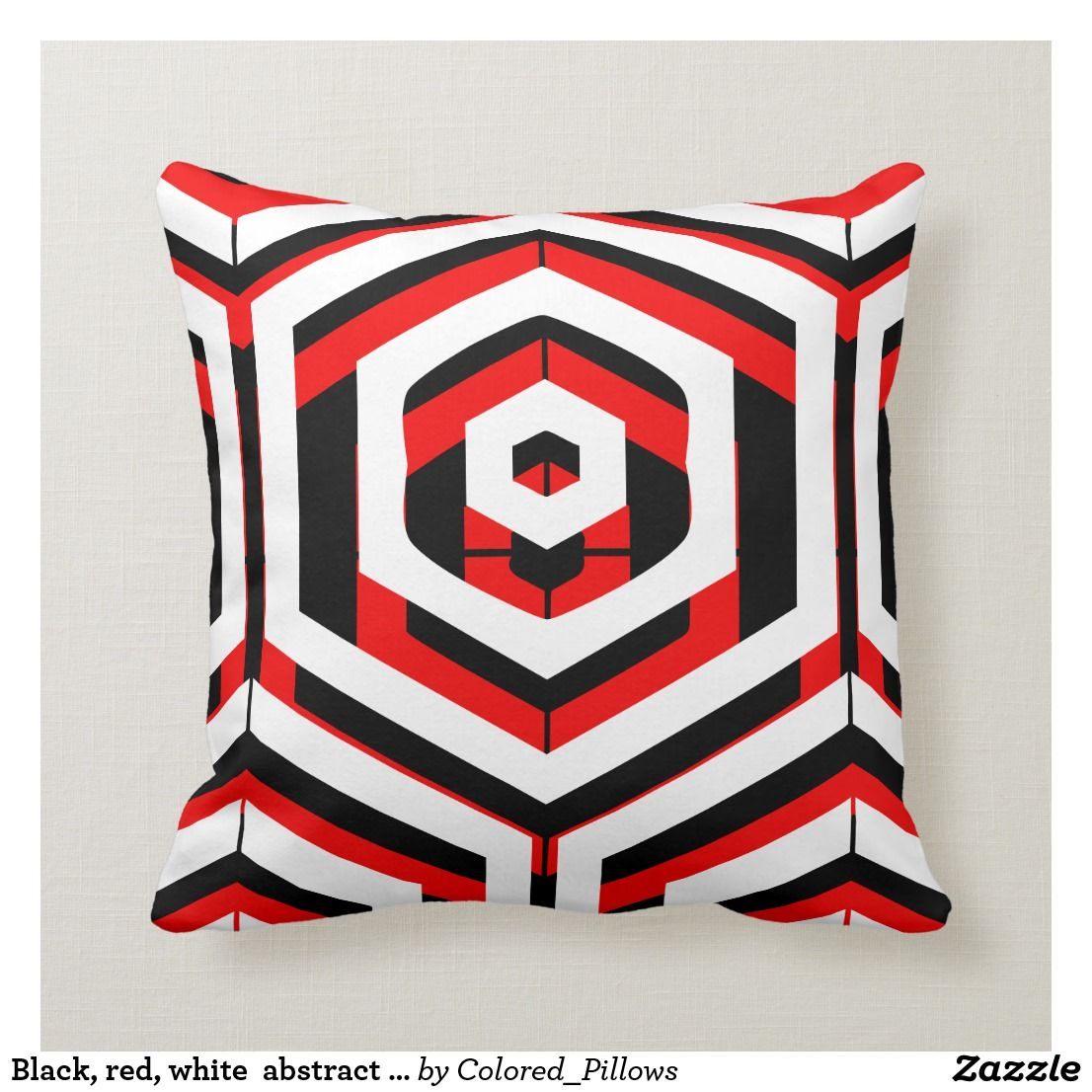 Black Red White Abstract Pattern Solid Back Modern Pillows Black Decorative Pillows Decorative Pillows