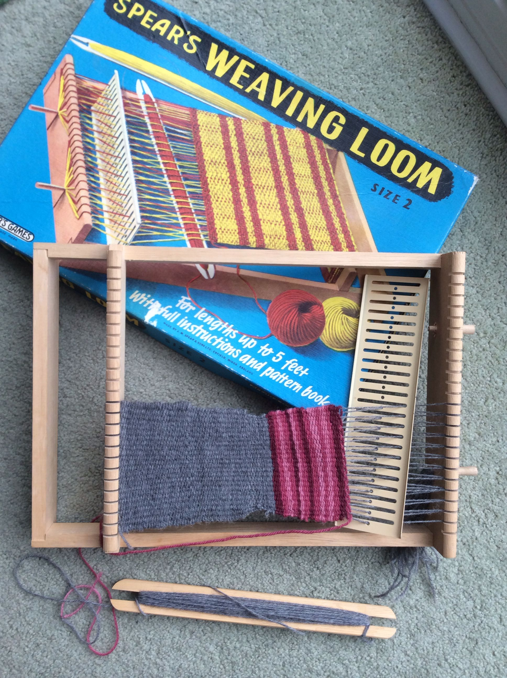 My childhood weaving loom with the original wool, NO plastic parts , all wood and  metal! pure bliss : )