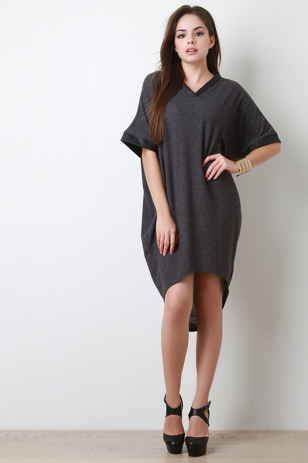 1d5cd33745 Half Sleeve Cocoon Sweater Dress
