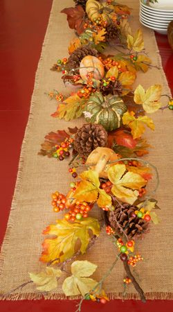 Park Hill Collections Bountiful Harvest 6' Garland