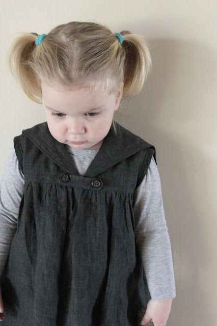 Sailor tunic in grey cotton linen