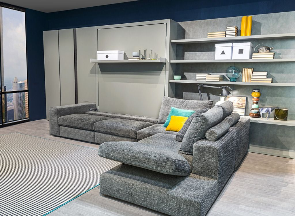queen size Murphy sectional sofa wall bed dimensions - Google Search ...