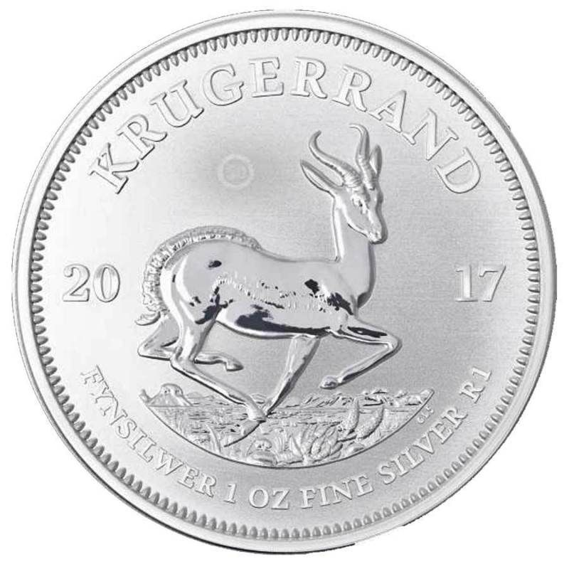 Coin South Africa 2017 Silver Krugerrand 1oz Fine Silver 999 Ag Coin 50th Annevesary Animaux