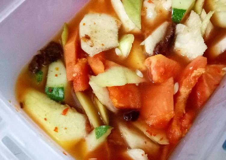 Resep Asinan Bogor Oleh Ummu Abdirrahmaan Resep Resep Ide Makanan Makanan