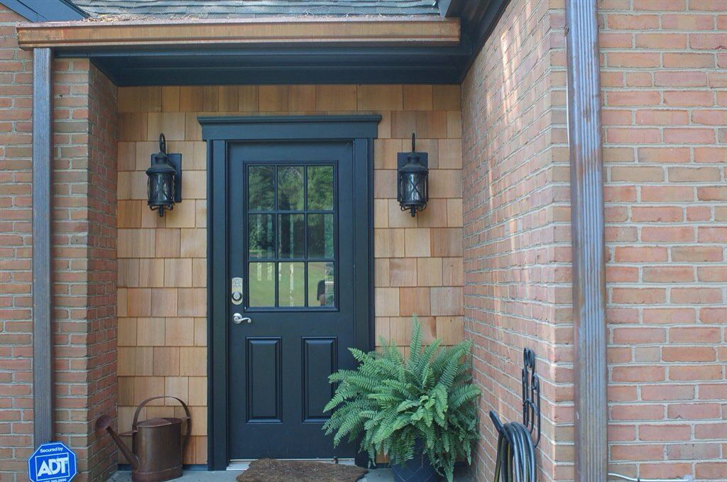 Best Adding Cedar Shingles Around Front Door Curb Appeal Cedar Shake Siding Shake Siding 400 x 300