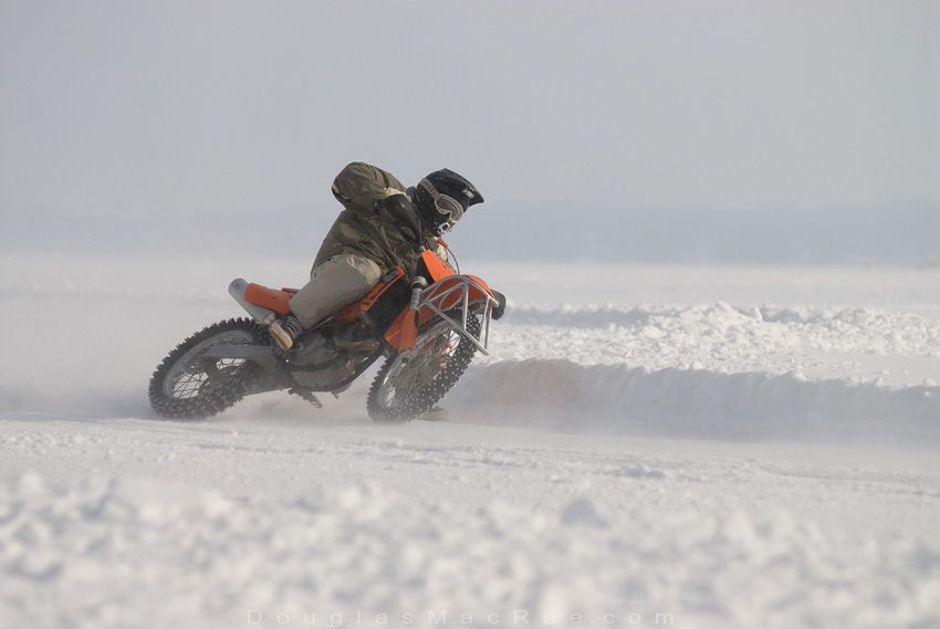 Time To Stud Up The Dirt Bike Tires For The Ice Winter Doesn T Stop The Canadian Biker Metal Tubing Over Front Wheel Dirt Bike Tires Dirt Bike Girl Dirt Bike