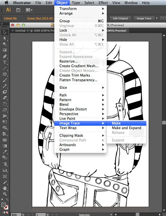 How To Edit Drawings In Illustrator With Image Trace Illustrator