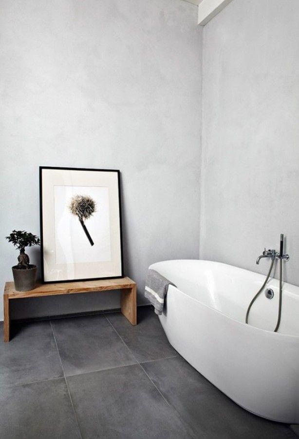 Interieurideeën   Minimalistisch, prachtige badkamer   Prachtige badkamers, Badkamer stucen ...