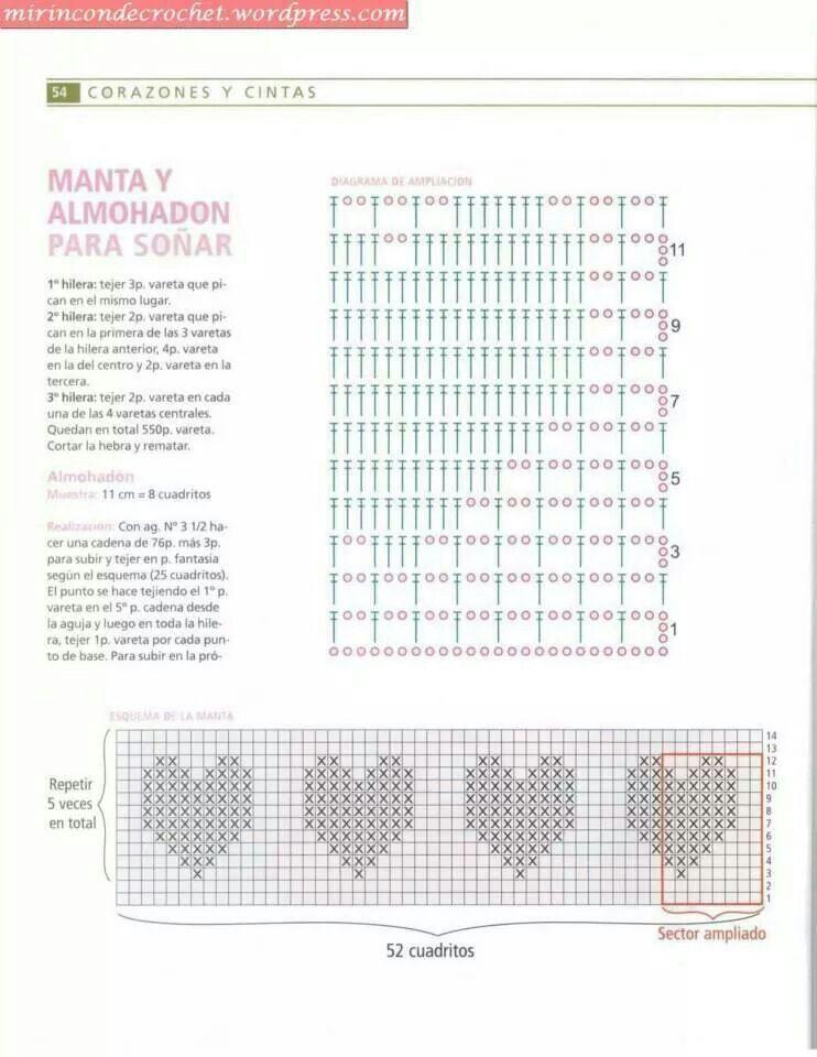 Grafico | patrones ganchillo | Pinterest | Punto de crochet ...