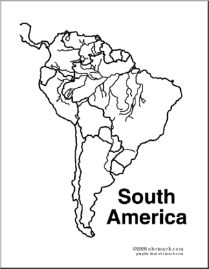 south america coloring pages for kids | South America: Worksheets & Printables | Unit: South ...