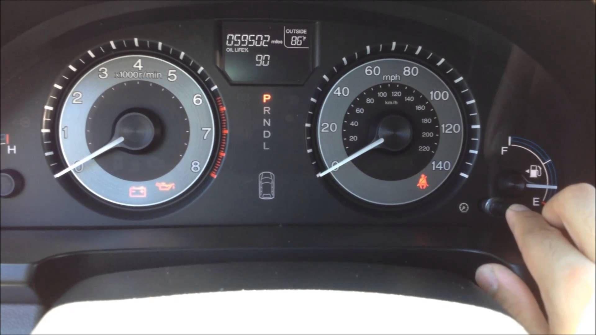 Reset Oil Maintenance Light - 2010 to 2013 Honda Odyssey