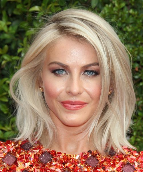 Medium Straight Hairstyles Cool Julianne Hough Medium Straight Casual Hairstyle  Light Blonde