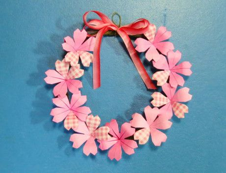 ハート 折り紙 折り紙桜の作り方 : pinterest.se