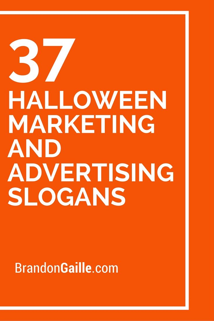 41 halloween marketing and advertising slogans