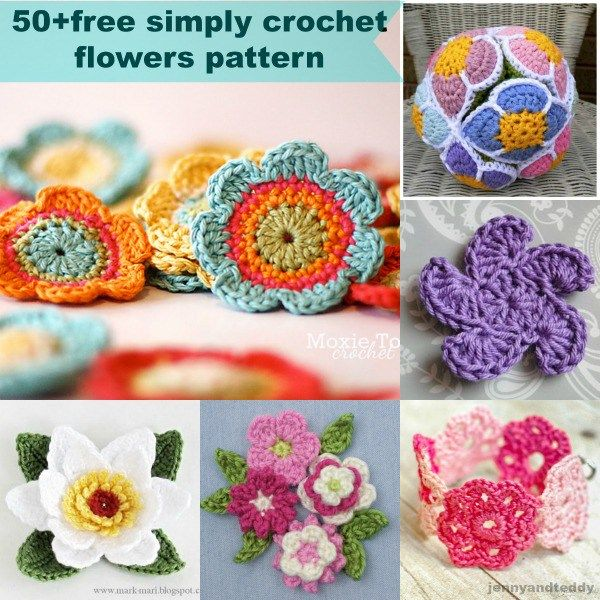 Crochet flowers make me think of spring. Can you imagine that? Flowers crochet…