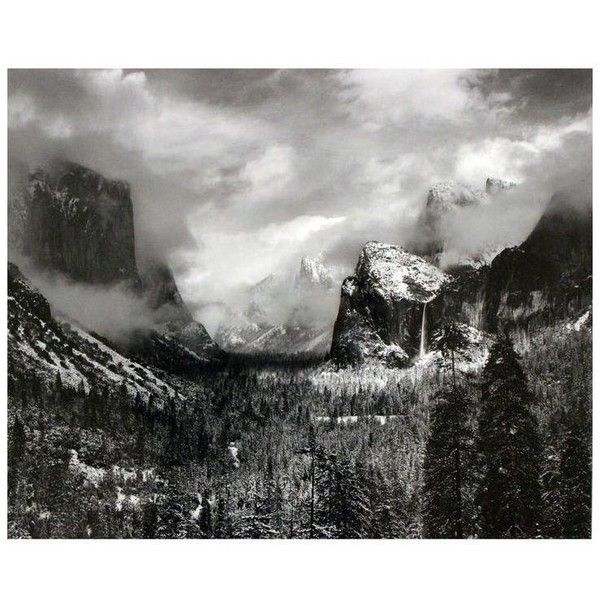 Framed ansel adams clearing winter storm yosemite valley print 500 ❤ liked on polyvore featuring home home decor wall art prints black whi