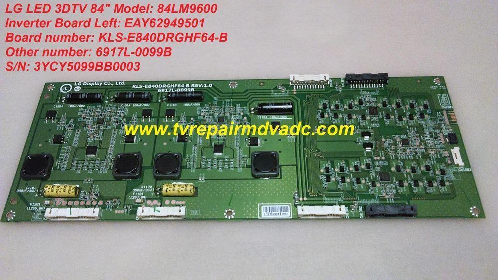LG Smart LED 3DTV: 84LM9600  Inverter Board LEFT