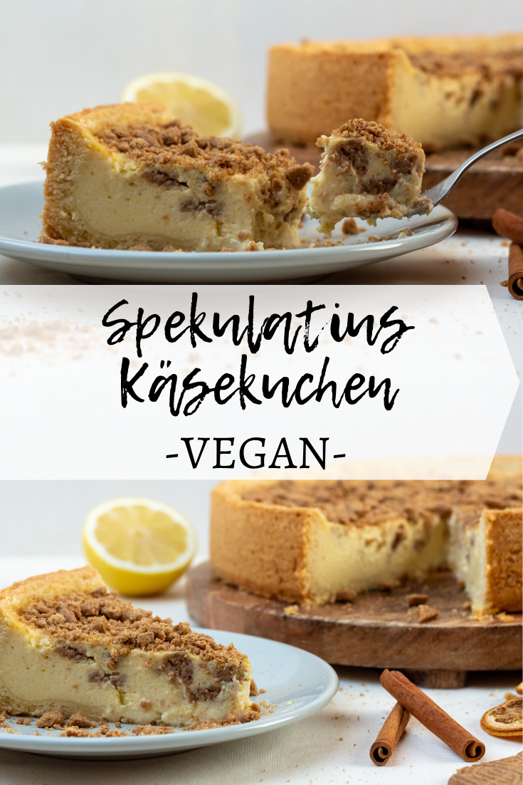 veganer & weihnachtlicher Spekulatius-Käsekuchen • purelimon