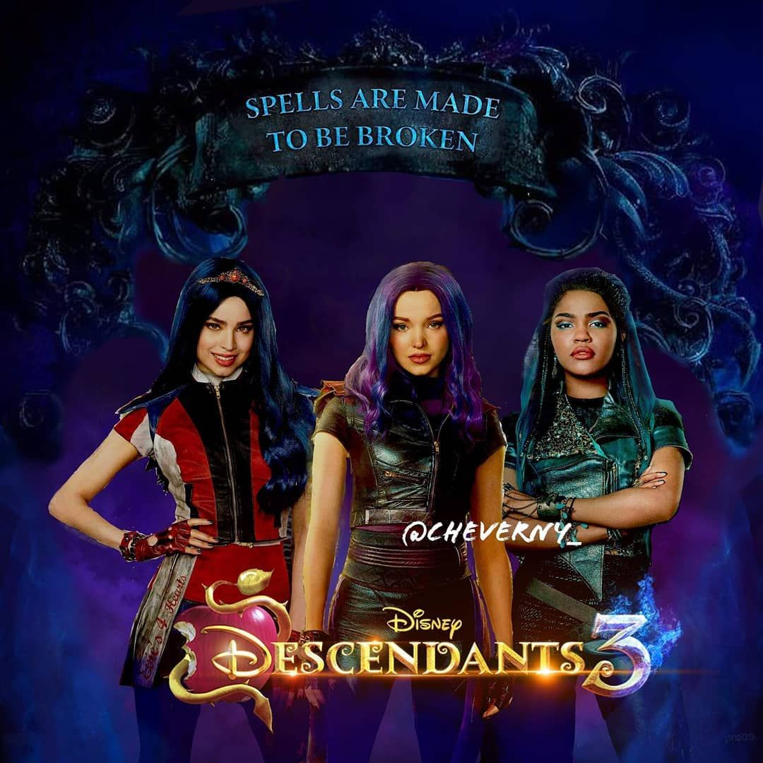 Descendants 3 Evie Mal Uma Disney Descendants Decendants Disney Decendants