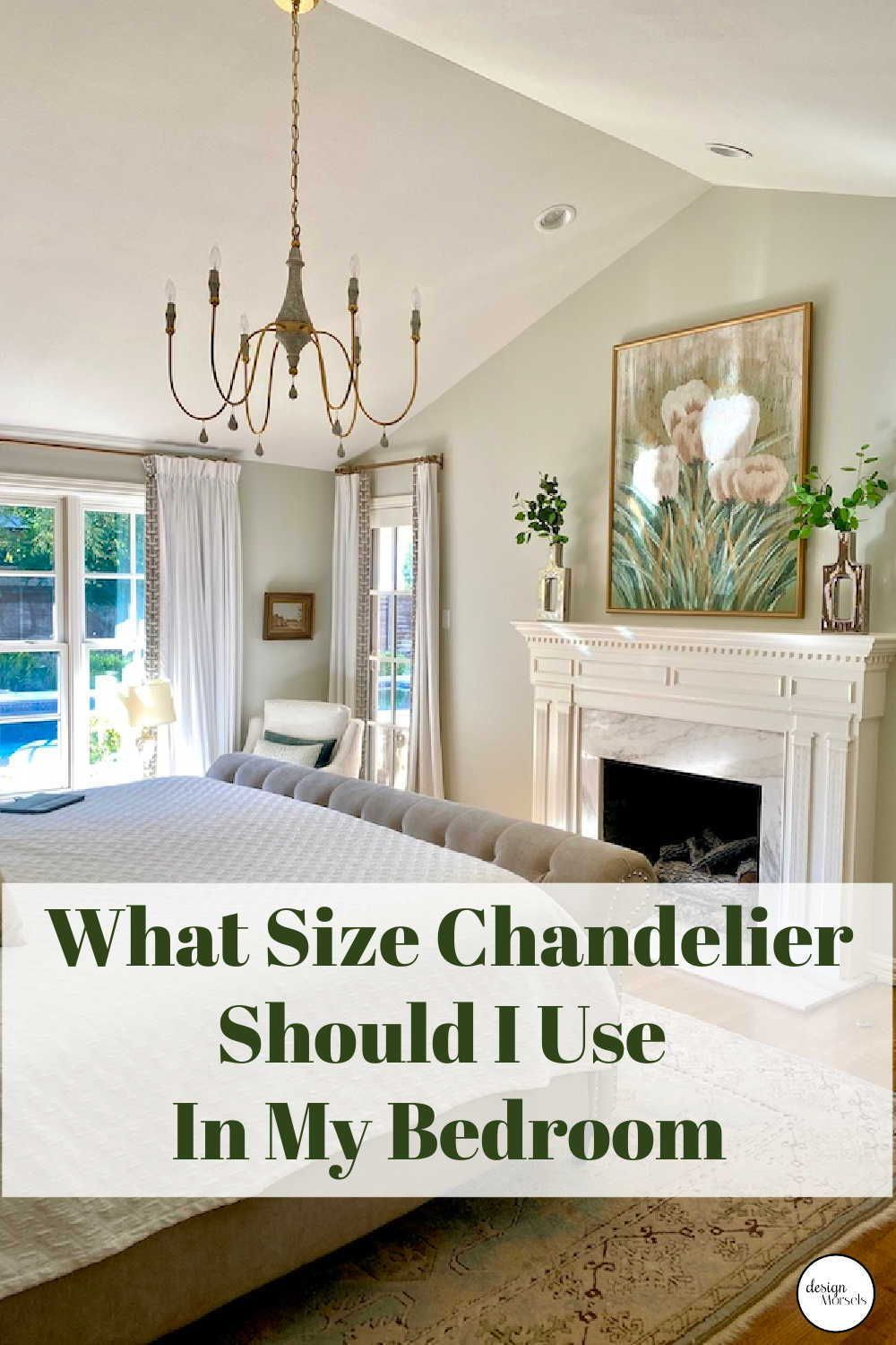 Chandelier Size Guide - Design Morsels  Master bedroom lighting