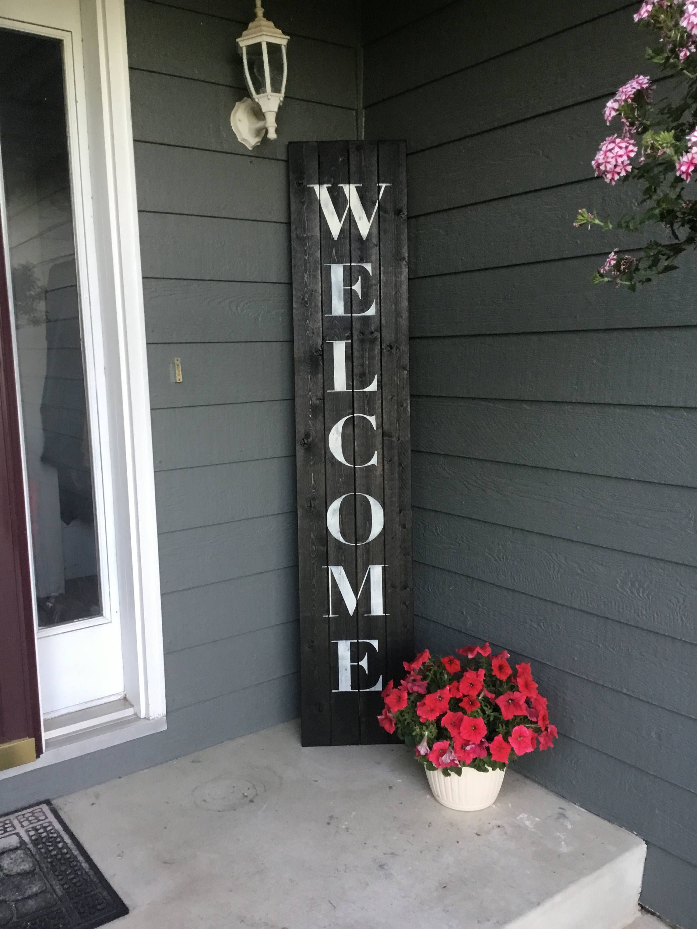 Welcome Sign Welcome Sign Front Porch Welcome Sign Front Decoracion De Entrada Decoracion De Entrada Principal Decorando Porches