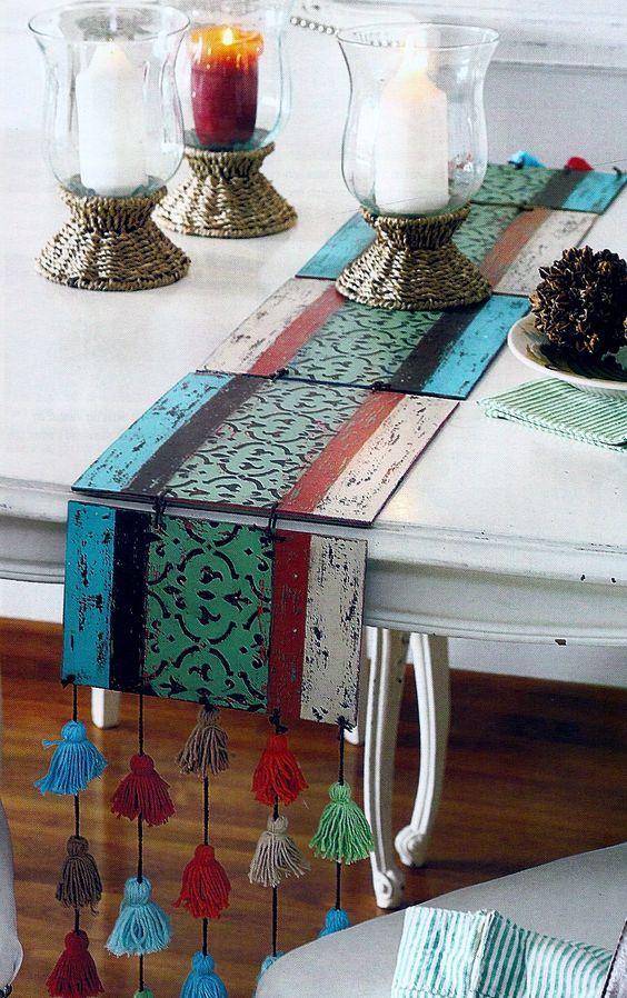 Camino de mesa de madera MDF.:
