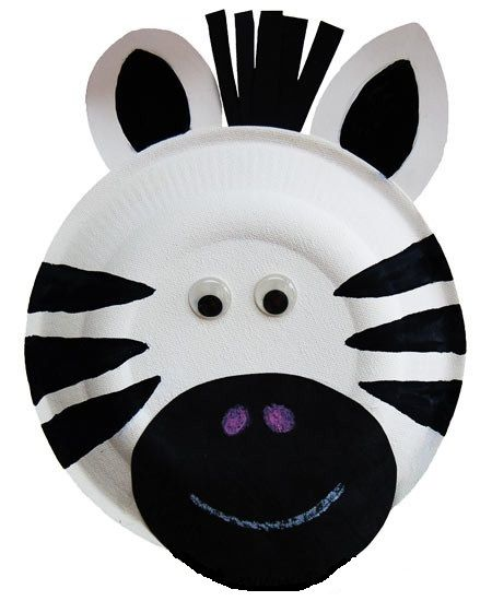 Zebra Craft Idea for Preschool - Preschool and Kindergarten #animalcraftsforkids