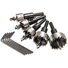 CoCocina 5pcs 16-30mm HSS Hole Saw Cutter Drill Bit Set –