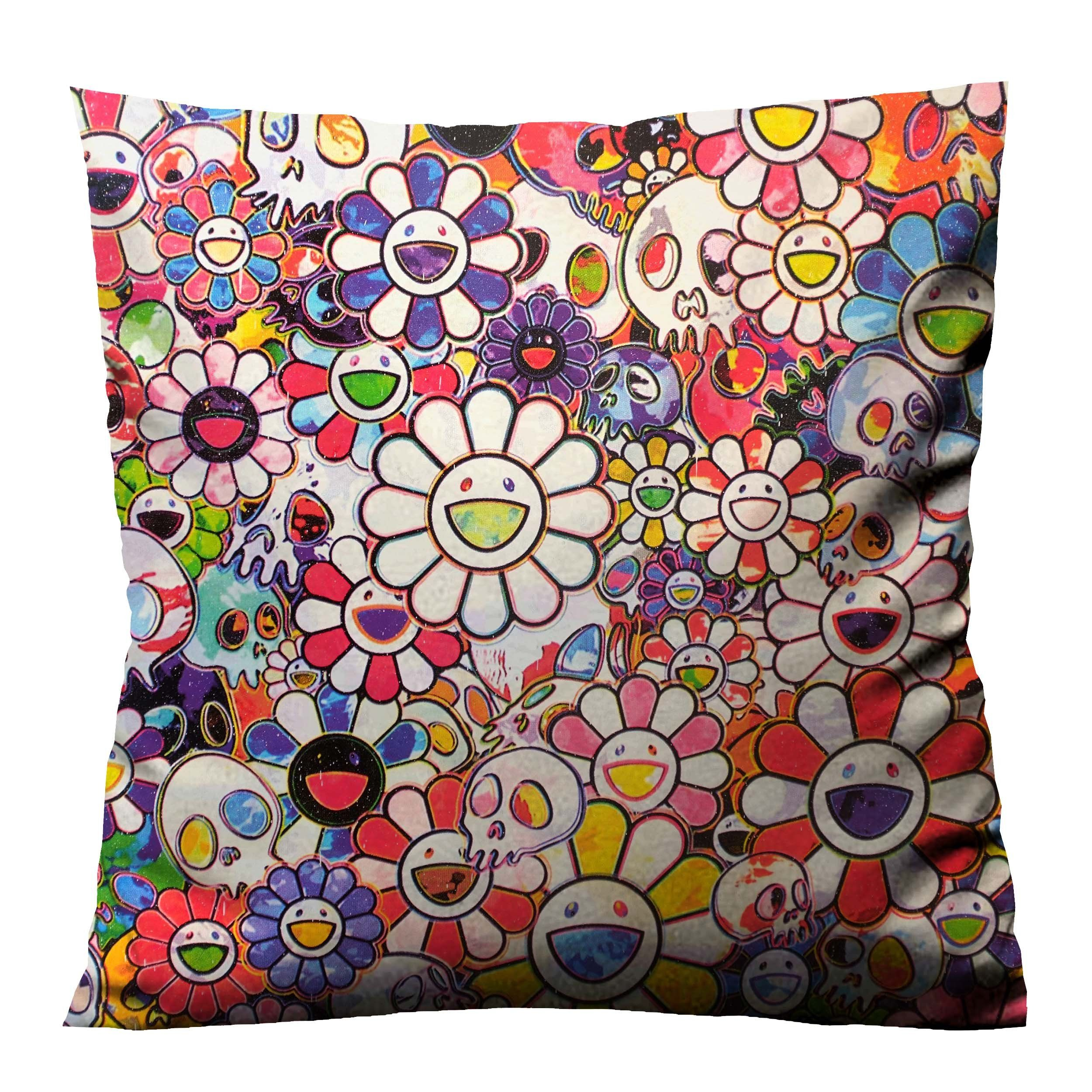 TAKASHI MURAKAMI FLOWERS AND SKULLS Cushion Case Cover di 2020