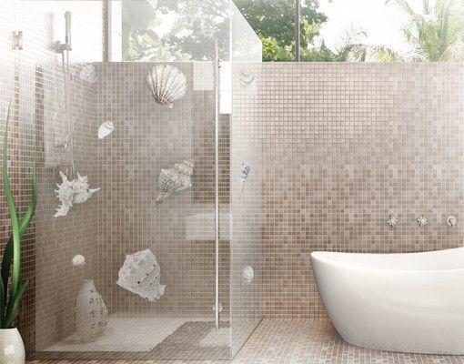 Fensterfolie - Fenstersticker NoBP24 Exotische #Muscheln - deko ideen badezimmer wandakzente