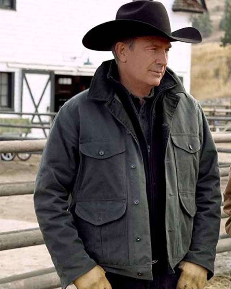 Yellowstone S02 Kevin Costner John Dutton Black Cotton Jacket Black Cotton Jacket Cotton Jacket Jackets [ 1000 x 800 Pixel ]