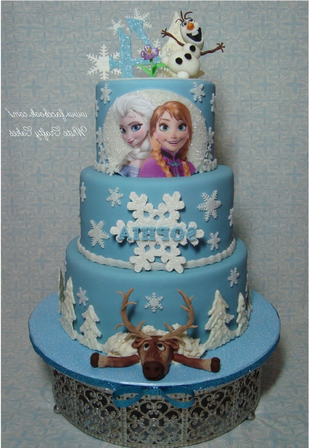 Edible Cake Pictures Frozen : Edible Frozen Princess Fondant Cake Topper/ Cake Topper ...