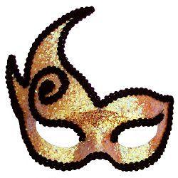 Gold Imp Masquerade Mask