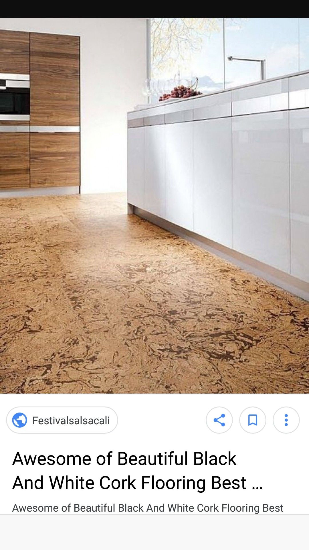 Cork Floor With Clean White Modern Cabinets Cork Flooring Modern Cabinets Flooring