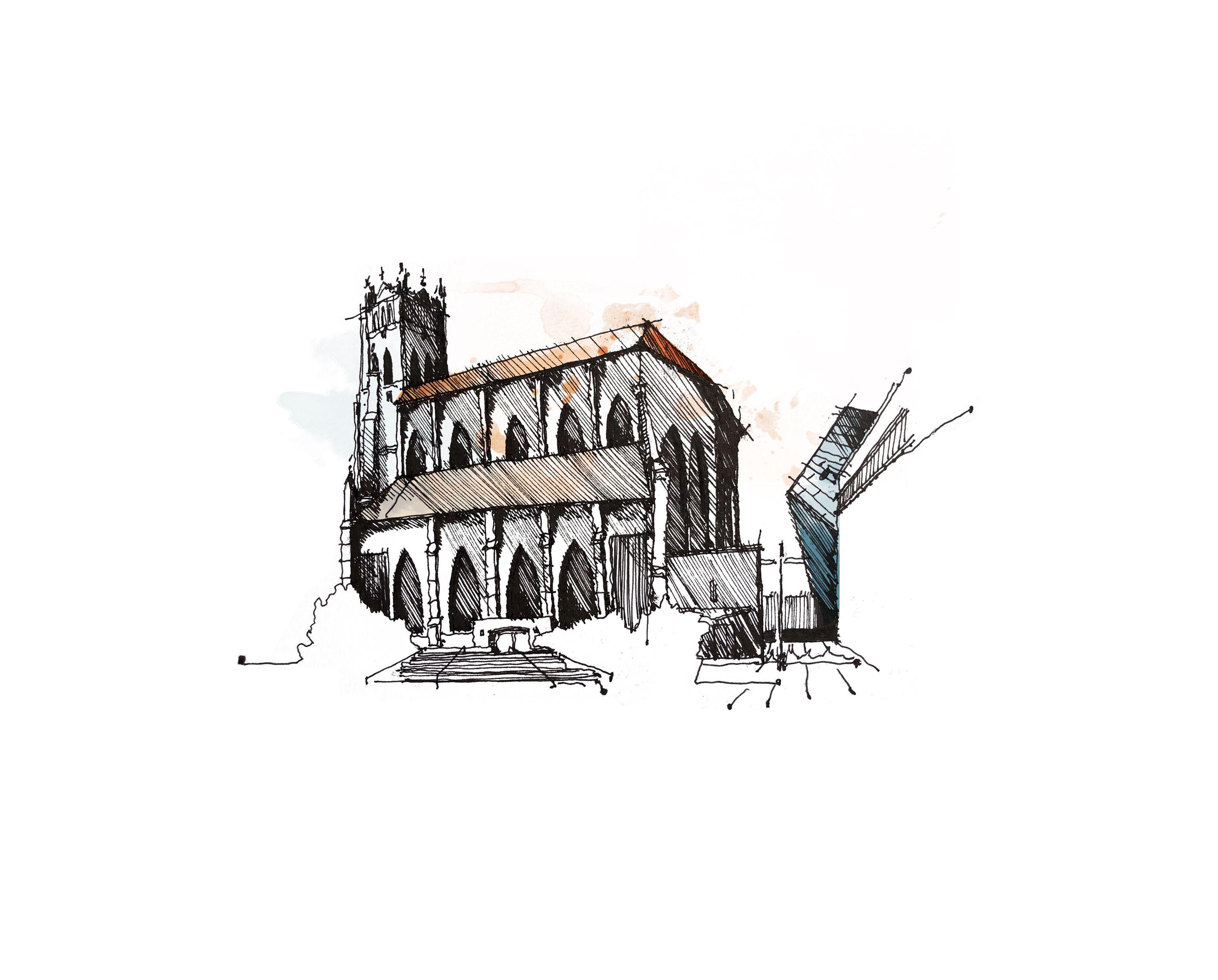 Print: St Patrick\'s Church // San Francisco | Johnny Lemoine\'s ...